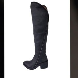 Jeffrey Campbell Black Airtight Over Knee Boots 5